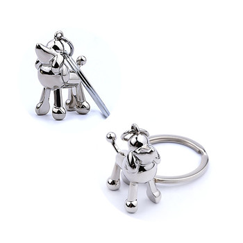 Custom 3D animal logo metal Keychain for school souvenir