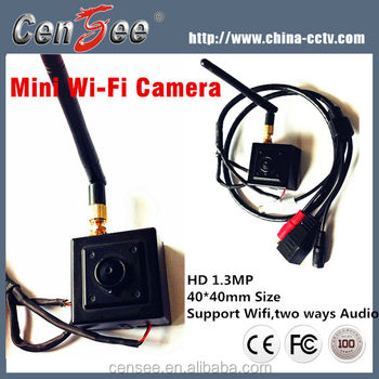 2017 Hot Selling Super Mini Cctv Network 1.3MP Hd Pinhole Hidden Wifi Ip Camera