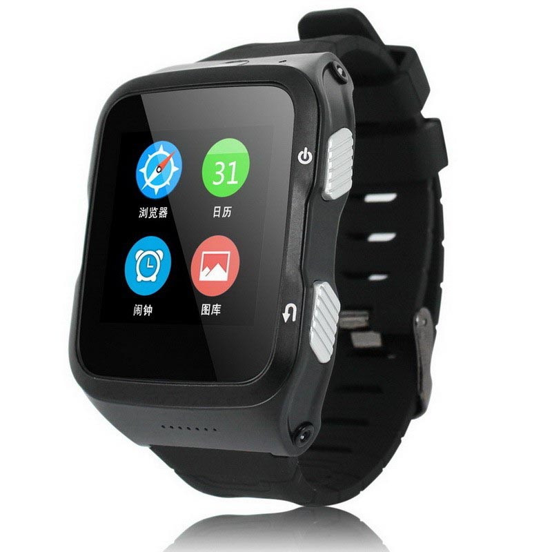 Android V5.1 OS Bluetooth 4.0 smart watch phone wifi 3G WCDAM 2100/850MHz SmartWatch phone 2.0M camera Support GPS RAM 512MB