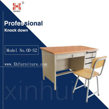 Modern staff tall steel office desk/ iron computer table