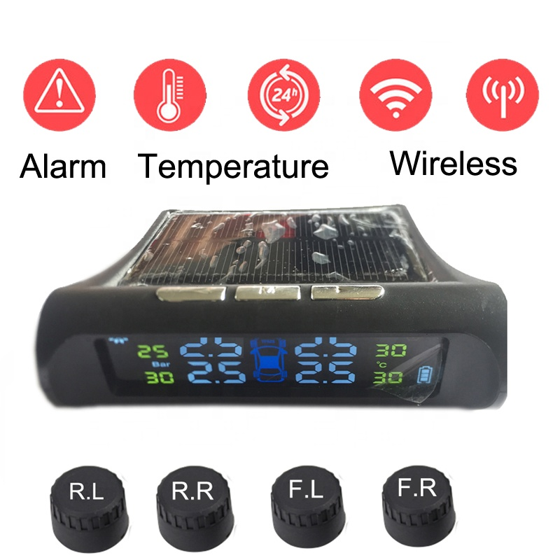 Car Tire Pressure PSI Solar Power USB Changer 2 in 1