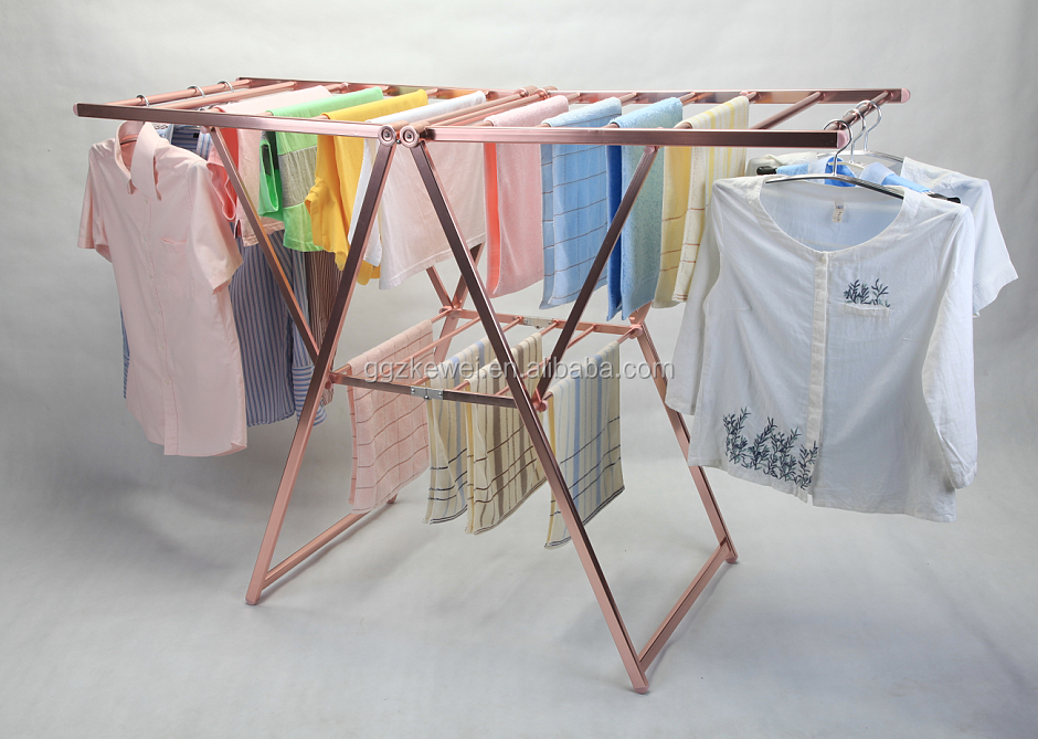 Aluminum Folding Clothes Drying Rack , King Size Laundry Hanger Stand AL-6019R