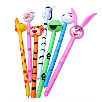 Hot Sale  Children Outdoor PVC Inflatable Long Stick Cartoon Animal Cheer Stick