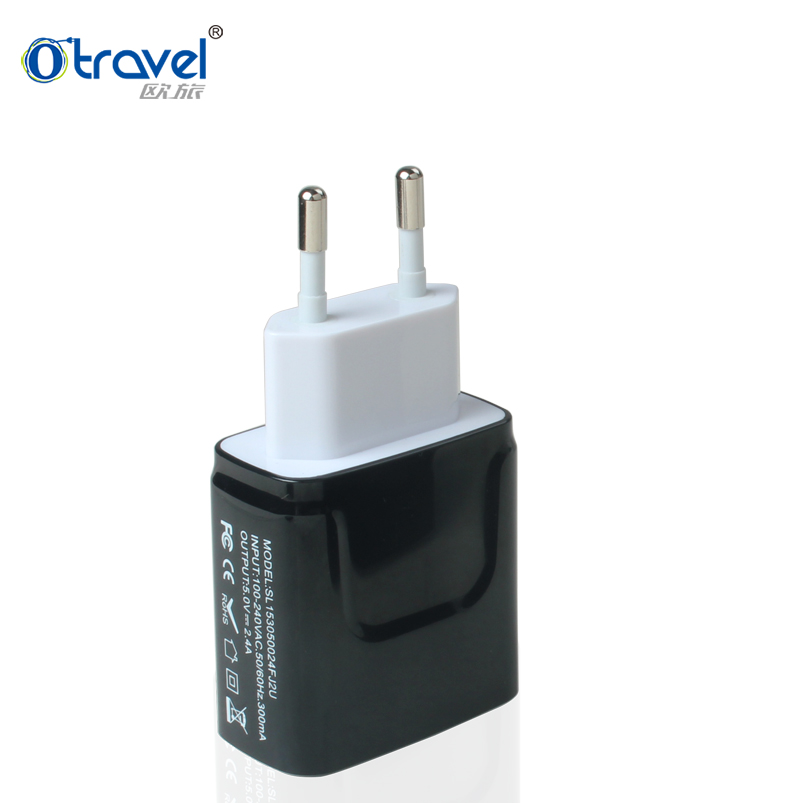 Cool tech giveaways gifts foldable USA plug or Euro plug mobile phone travel charger