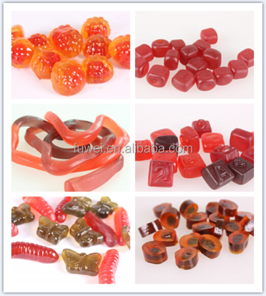 65% OEM fruit juice halal soft gummy jelly gelatin pectin sweets candy