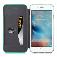 Sea Shell Style Flip Cover PU Leather Wallet Case For iPhone 6 6S