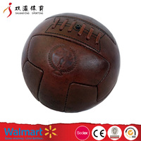 Wholesale custom Retro Vintage football soccer ball size 5,hand stitched pvc soccer ball with low price