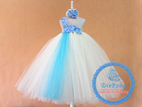 baby birthday party tutu dress floor length flower girl dresses for weddings kids pageant dresses for little girls