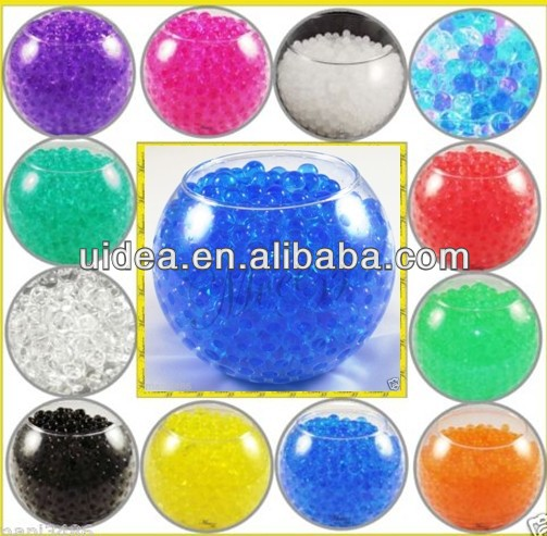 SMALL AQUA TERRA WATER BEADS - SUPER EXPANDING GEL VASE FILLER - ASSORTED COLORS