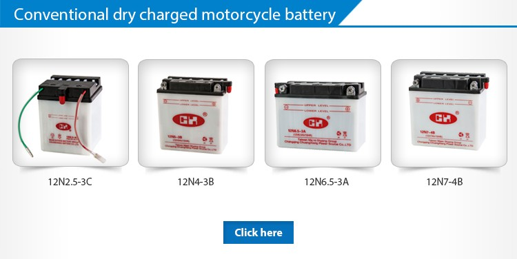 Dry Charged Lead Acid Type Of 12V Motorcycle Battery 7Amps