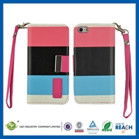 C&T The Fashionable Universal flip pu leather cases for iphone 5