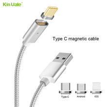 Newest 2 in 1 nylon Braided Magnetic usb cable , Magnetic Charging Cable for iphone Samsung, HTC, Nexus, Motorola