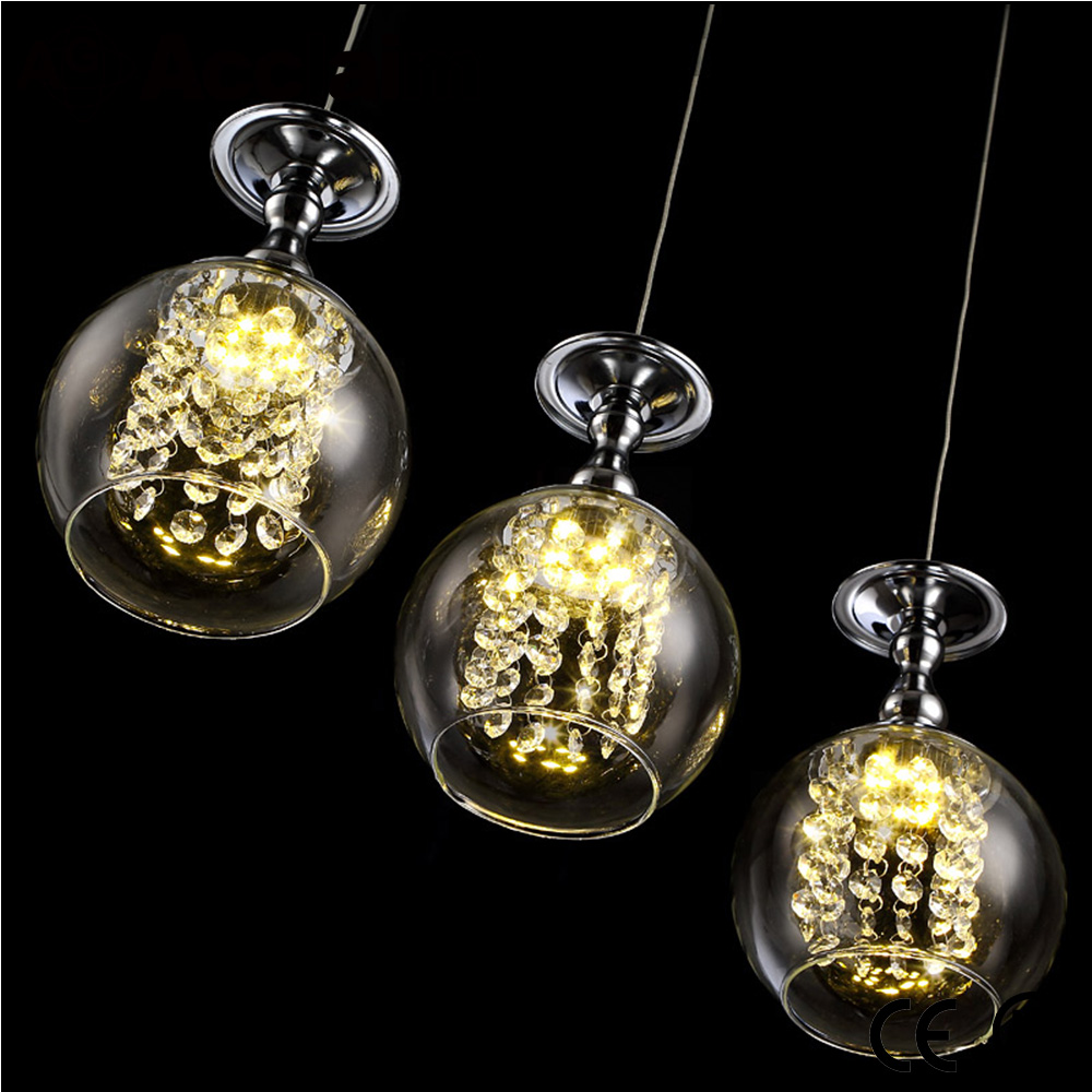 Hot selling glass pendant light art design metal chassis LED restaurant ceiling lamp