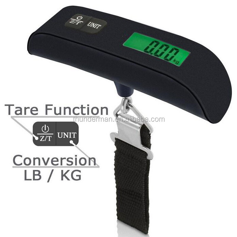 Hot Selling 50kg digital balance scale with Green LED Backlight and Temperature Display