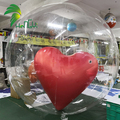 Advertising inflatable double layer heart balloon for event promotion