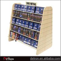Floor Standing Wood CD/DVD Display Shelves Stand