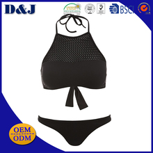 High Quality Sexy Cheap Two Piece Ladies Women Halter Neck Bikini Top and Bottom for sale