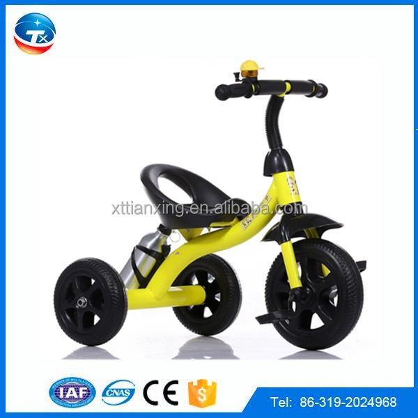 air tire tricycle for kids 2017 good quality children trikes with large seat plastic and mental kids tricycle on sale