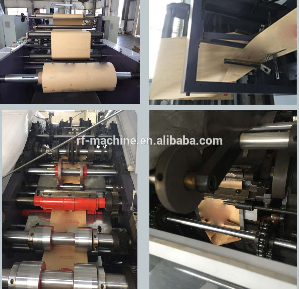 PLC Automatic Roll Feeding Square Bottom Shopping food Paper Bag Making Machine