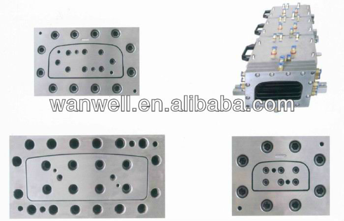 Plastic antenna cover extrusion moulding