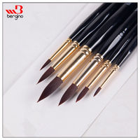 BGN-707B Bergino superior quality watercolor painting artist brushes wholesale round shape artist paint brush set