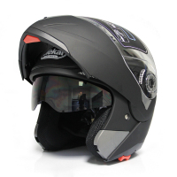 matt black ABS flip up motorcycle helmets with double visor helmet motorcycle