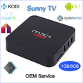Best OEM Android tv box G5B s905 android 5.1 box kodi addon fully loaded marshmallow tv box with 1gb ram 8gb rom better than m8s