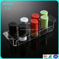 Wholesale Custom Lucite Plastic Rectangle Pop Acrylic Serving Tray Acrylic Condiments Tray