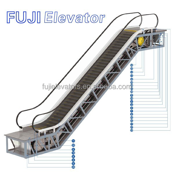FUJI auto moving walk home escalator for sale