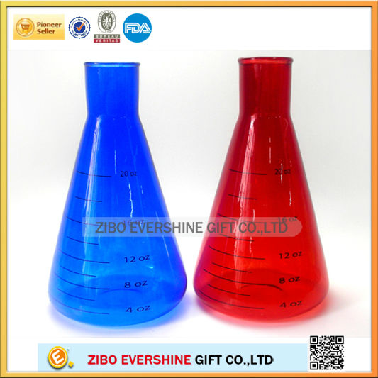 1000ml colored graduated glass laboratory beaker