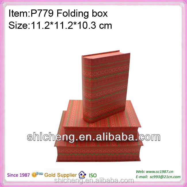 Custom decorative book shaped boxes