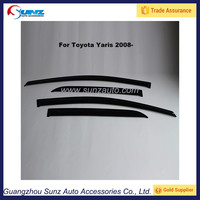 For Toyota Yaris 2008- on Car Acrylic sheet Black Light Smoke Door Visors window rain shield Sunz Auto Manufacturer