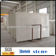 top polished extra pure white Crystallized Glass Panels low price with best quality for sale