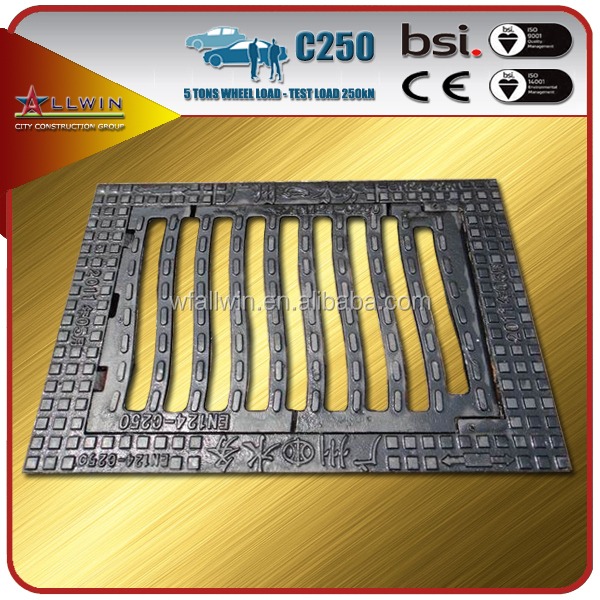 EN124 C250 Square Ductile Cast Iron Gully Covers plastic floor grating
