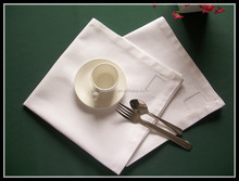 100% cotton white table napkins with customized logo/company name /letters embroidered