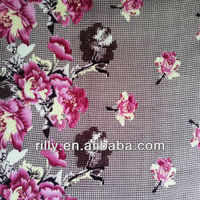 100% polyester flower printed flannel fabric