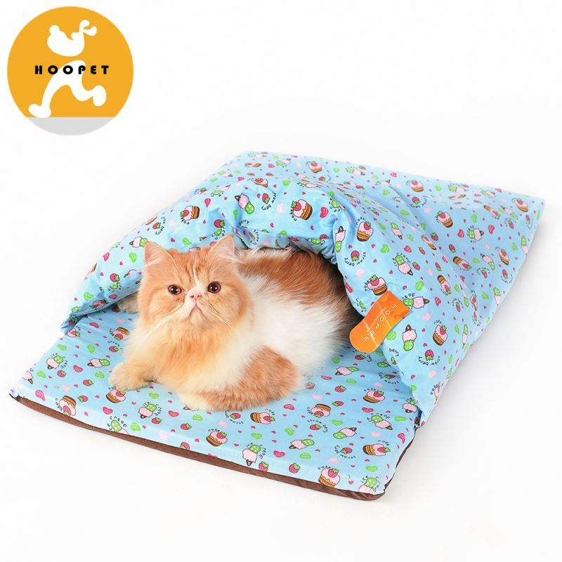 Fancy baby blue printing pet dog bedding and cat cool soft tunnel