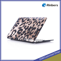 "Wholesale zebra leopard PU leather case for MacBook air 11.6"" 13.3"""