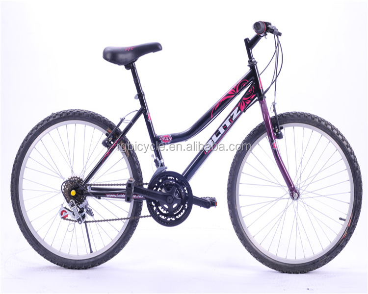 26 size lady bike dual curved frame spoke wheel women mountain bicycle