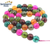 Synthetic mixed color watermelon quartz size 6 8 10 12mm wholesale cheap crystal beads