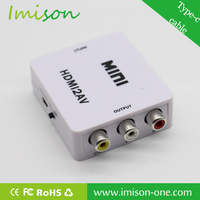 Mini Composite AV CVBS 3RCA to HDMI Video Adapter Converter 1080P