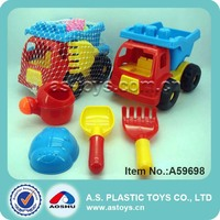 Funny mini toy truck beach plastic sandbox tool play set
