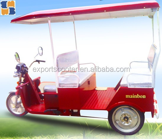 India 24 mosfet auto battery e rickshaw, with solar pannel tricycle