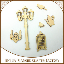 DIY Wooden shapes Unfinished Plain Wood Shapes Craft Supply Laser Cut Outs Woodware Home Decoration for scrapbooking