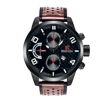 Hot Sale Japan Movt Quartz Sport Watch Stainless Steel back Men's Military Sport Watch Men Wrist Watches with Sub-Dial