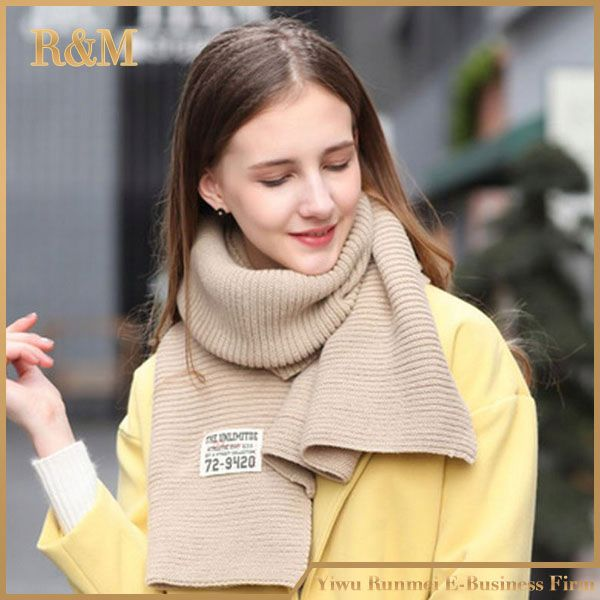 Newest sale OEM quality football knitted scarf directly sale