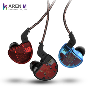 New fashion KZ ZS10 1 dynamic 4 balanced armature driver hybrid technology earphone