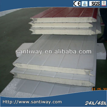 hot sale 30-100mm polyurethane foam sandwich roof PU panel supplier in Hangzhou