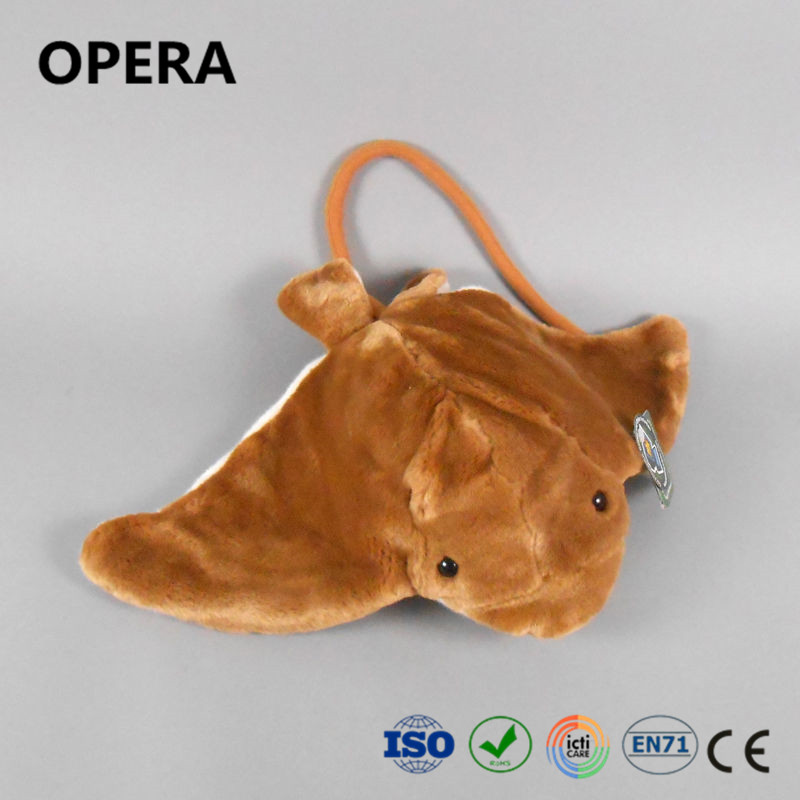 hot cheap fashion gift brown material bat ray flying plush animal china factory toys