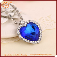 Classic titanic heart of the ocean blue Sapphire necklace